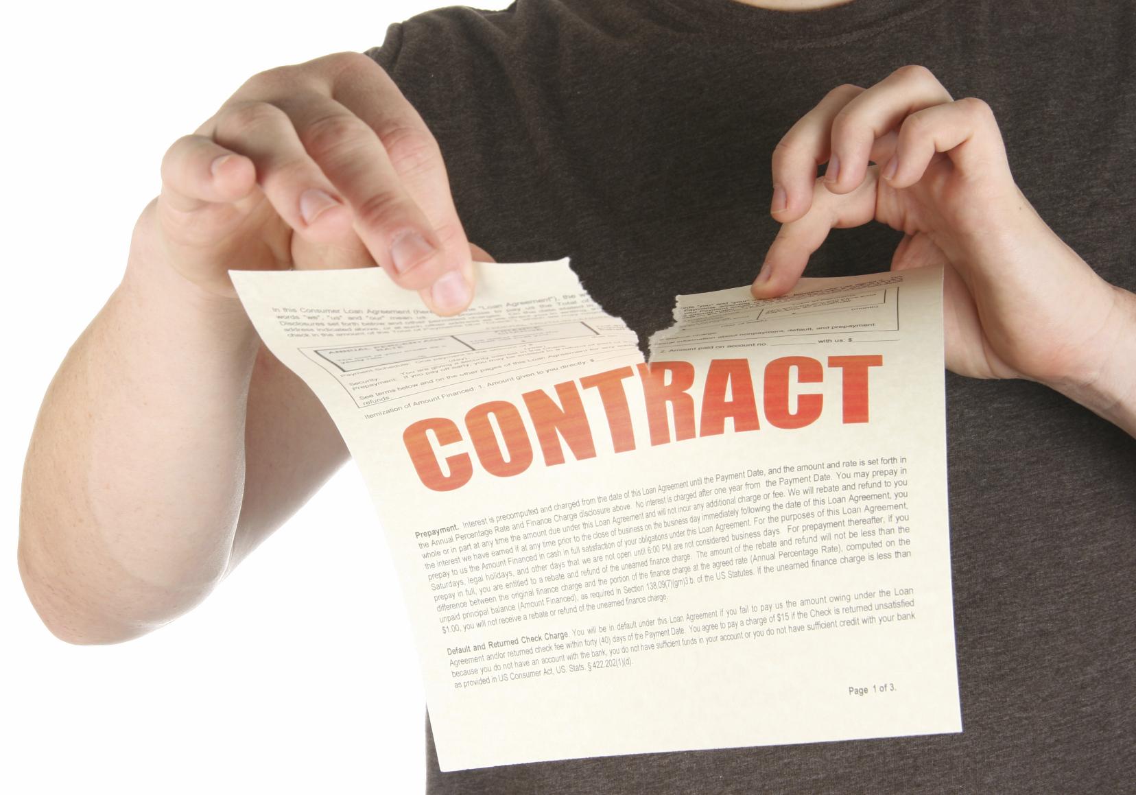 Разрыв контракта
