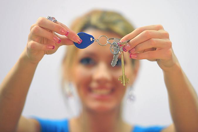 Девушка и ключи