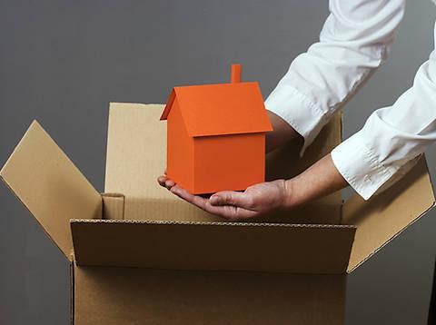 Дом кладется в коробку