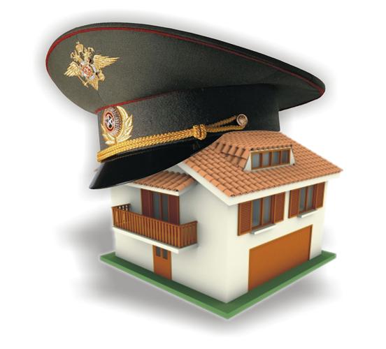 Военный головной убор на доме