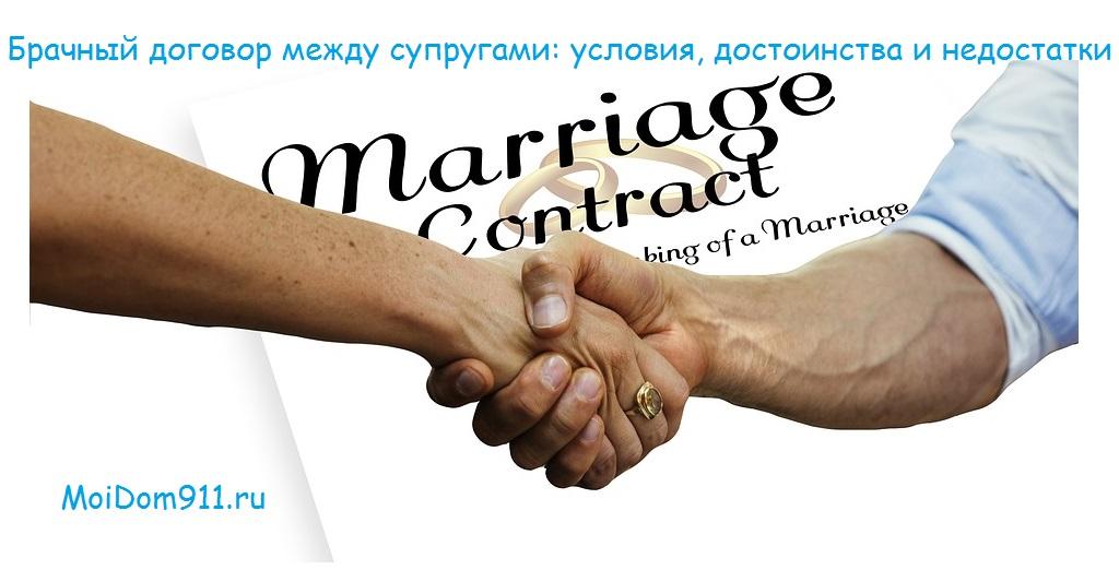 Брачный договор между супругами условия достоинства и недостатки