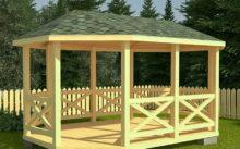 Как построить деревянную беседку своими руками